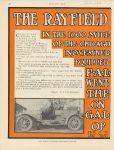 1910 11 17 THE RAYFIELD CARBURETOR C. F. Van Sicken F-A-L racer MOTOR AGE 8.75″×11.5″ page 56