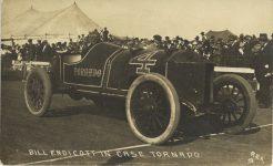 1912 ca. CASE BILL ENDICOTT IN CASE TORNADO REX 9 RPPC front