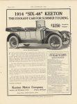 "1913 7 9 KEETON 1914 SIX ""48"" THE HORSELESS AGE 9″×12″ page 21"