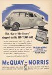 1944 ca. McQUAY NORRIS 1934 Car of the Future ad 8″×11.25″