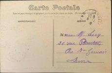 1905 ca. RENAULT French race car 1632 Circuit de Dieppe postcard screenshot back