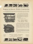 1910 General Vehicle Company Electric Progress in Electric Vehicle Construction ELECTRICAL WORLD 9″×12″ page 109