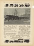 1910 General Vehicle Company What One Central Station Has Done ELECTRICAL WORLD 9″×12″ page 108