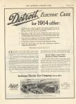 1914 8 23 DETROIT Electric for 1914 offer THE SATURDAY EVENING POST 10.25″×14″ page 40