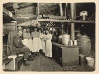 1912 ca Kileen Co. Camp kitchen crew interior Roleff photo 8.5″×6.5″