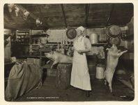 1913 MINN, Biwabik NB SHANK CO Camp No. 2 kitchen cook with pigs interior Roleff photo 8.5″×6.5″