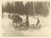 1916 MINN, Cook Co, ALGER SMITH CO. Camp No. 8 Sec 38-61-4 Roleff photo 8.5″×6.5″
