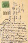 1954 2 13 CAT Sleeping war gal kitty linen postcard back