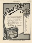 1916 8 31 IND PREST-O-LITE Storage Battery THE AUTOMOBILE ad 8.5″×11.5″ Geo page 78