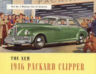 1946 THE NEW 1946 PACKARD CLIPPER catalog 11″×8.5″ Geo Front cover